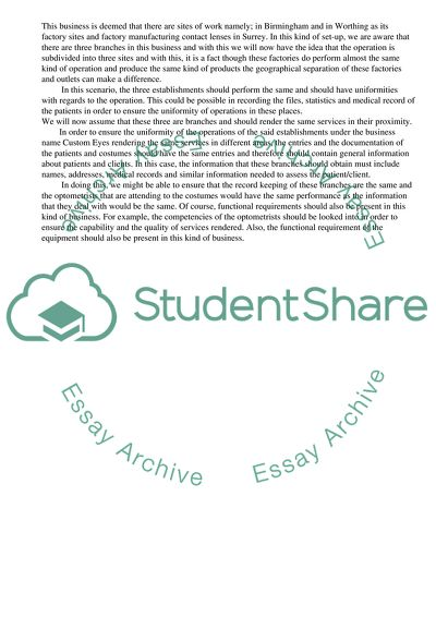 Information Systems Development Bachelor Essay