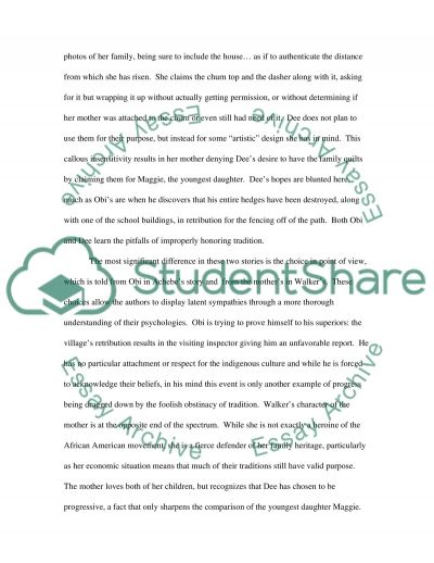 Everyday Use Thesis Statements and Important Quotes