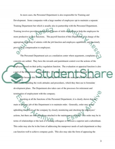 Strategic Human Resources Management Master Essay essay example