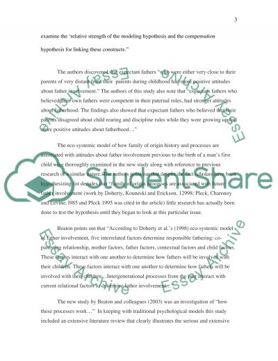 Fatherhood Essay example