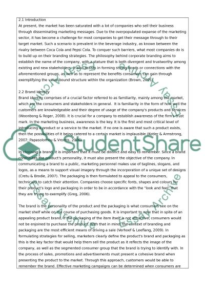 Working Title: Brand packaging: How relevant is it to the customer essay example