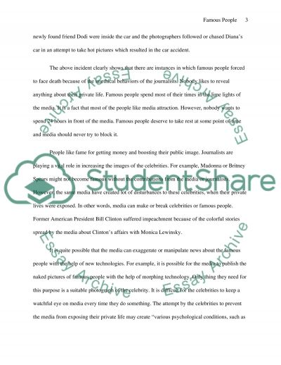 famous people essay example topics and well written essays  famous people essay example