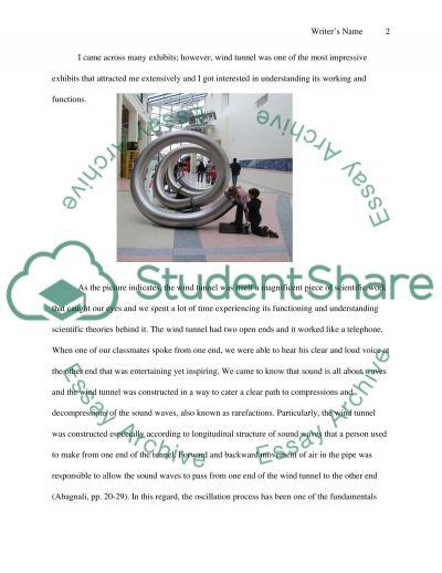 Visit to California Science Center essay example