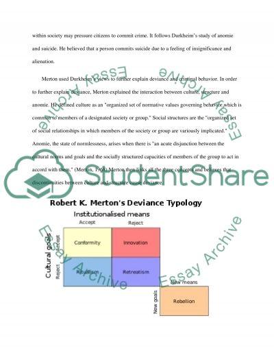 Theoretical dimensions involving criminal behavior essay example