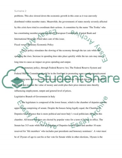 Italy profolio essay example