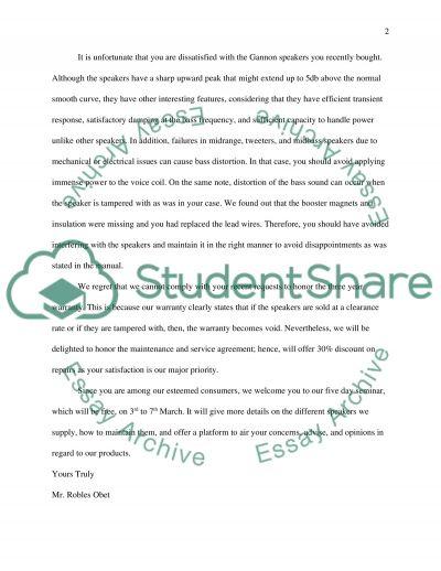 A negative adjustment letter essay example topics and well written a negative adjustment letter altavistaventures Images