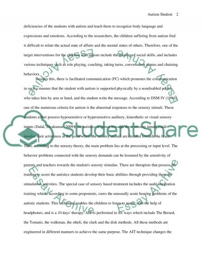 Autism student
