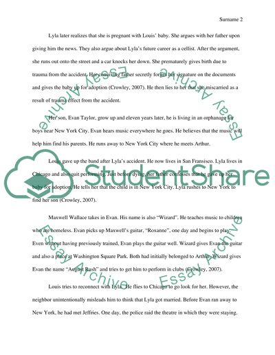 Film Critique On The Movie August Rush Essay Example Topics And Well Written Essays 1750 Words