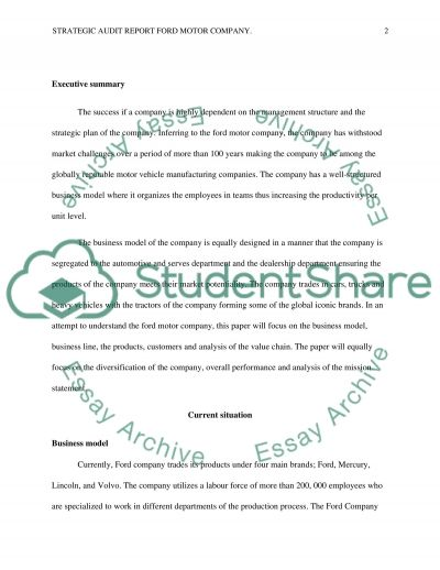 strategic audit report Strategic audit of starbucks strategic audit of starbucks traci hall jones college business  this report is a study of principles of strategic marketing .