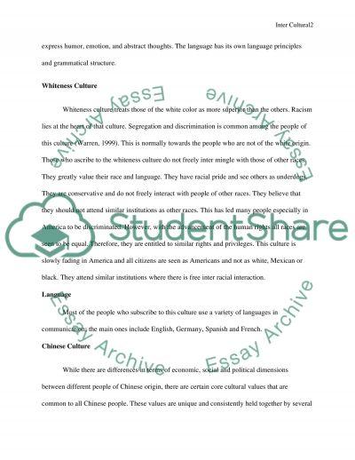 INTERCULTURAL essay example