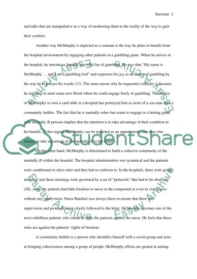 cuckoo essay Essays from bookrags provide great ideas for one flew over the cuckoo's nest essays and paper topics like essay view this student essay about one flew over the cuckoo's nest.