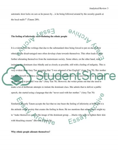 Analytical Writing Paper essay example