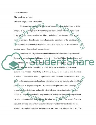 Into the Woods and Fairy Tale Conventions essay example