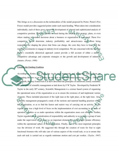 Organizational Change Book Report/Review essay example