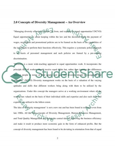 The Conceptualization of Diversity Management essay example