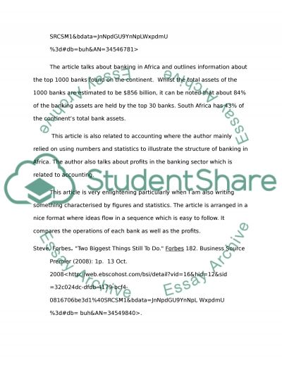 Annotated Bibliography of Business Sources essay example
