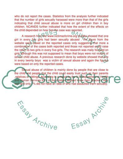 sexual victimization essay topics