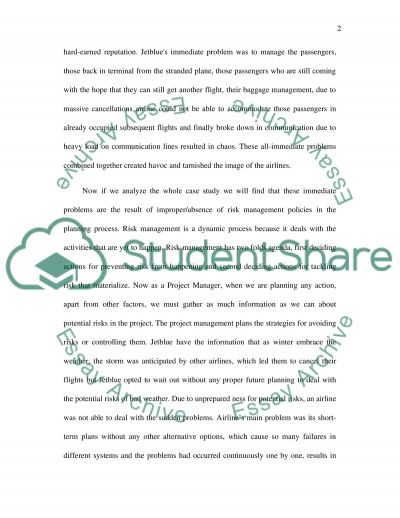 Project management/case-study essay example