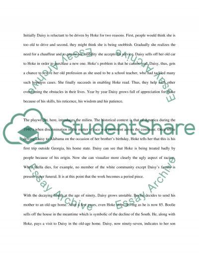 Driving Miss Daisy essay example