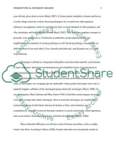 persuasive speech on stereotypes essay