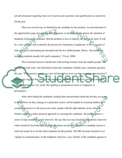 Business Plan/HR Project #4 Essay example