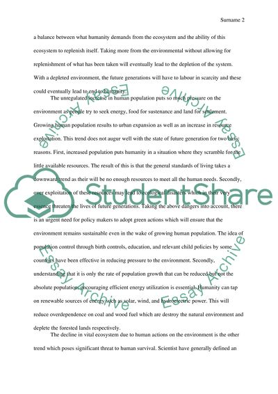Write an argument/persuasive essay somehow involving the concept of sustainability: Why is the creation of sustainable communities through green action plans an imperative key for human survival