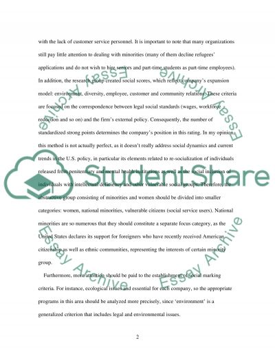 Business Management/ Business Ethics Discussion paper