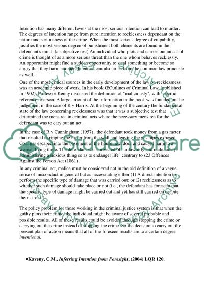 Criminal Law Essay essay example