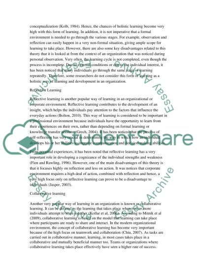 Managerial and Professional Development (portfolio assignment)