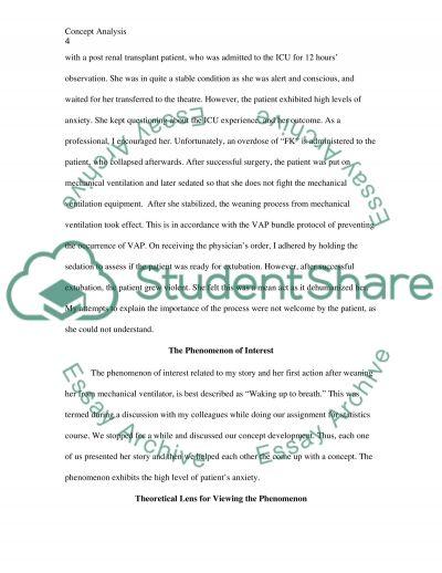 Concept development essay example