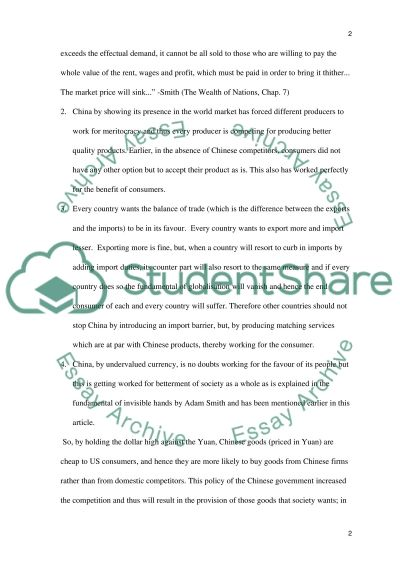Social Welfare in China essay example