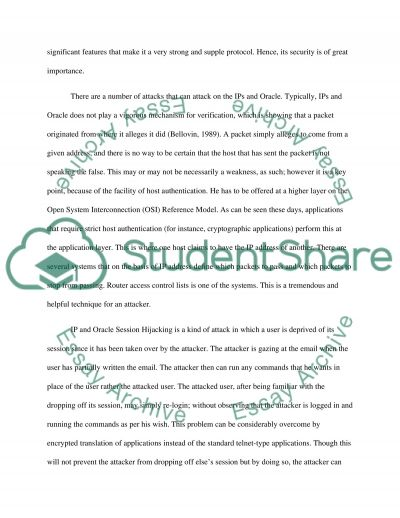 Information, Security & Control essay example
