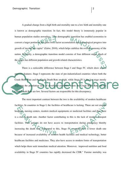 demography paper topics