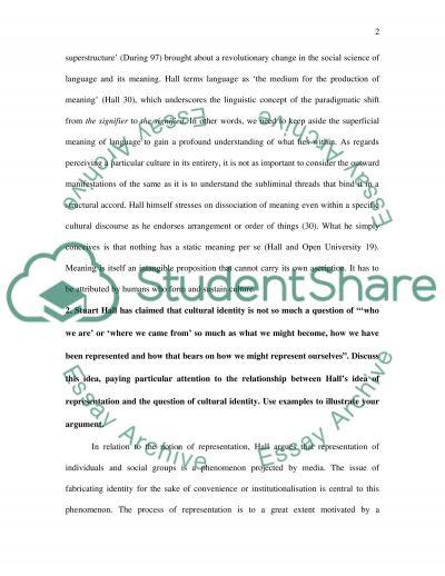 Cultural Studies essay example