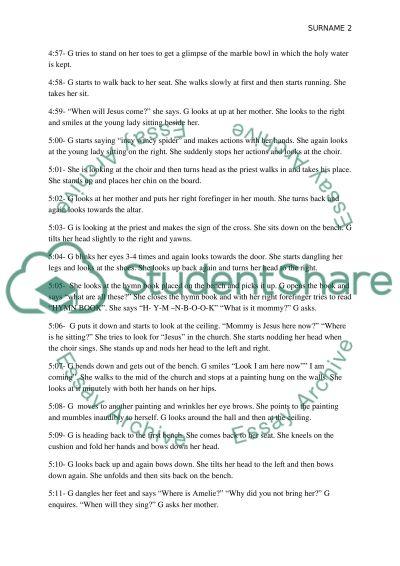 Children in the children center observation essay example