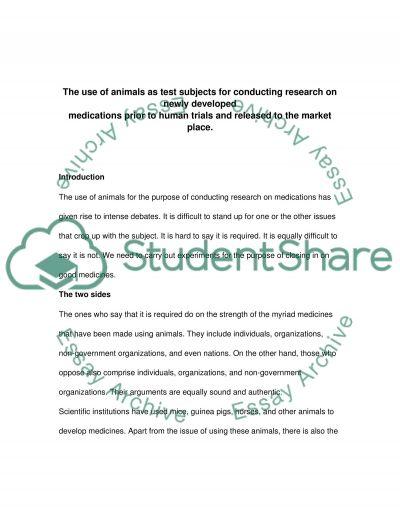 Animal Testing essay example