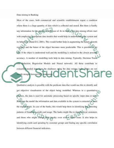 Data Mining College Essay essay example