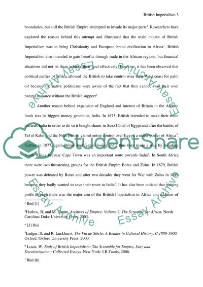Business Cycle Essay British Imperialism In Africa Term Papers And Essays also Is Psychology A Science Essay British Imperialism In Africa Research Paper Example  Topics And  Argumentative Essay Topics For High School