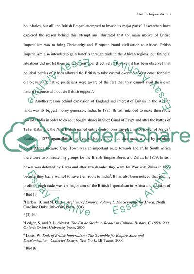 British Imperialism In Africa Research Paper Example  Topics And  British Imperialism In Africa Sample High School Essay also Persuasive Essay Examples For High School  Writing Contracts For Services