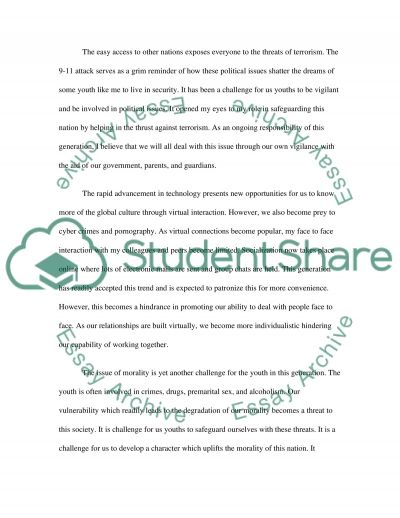 Generations essay example