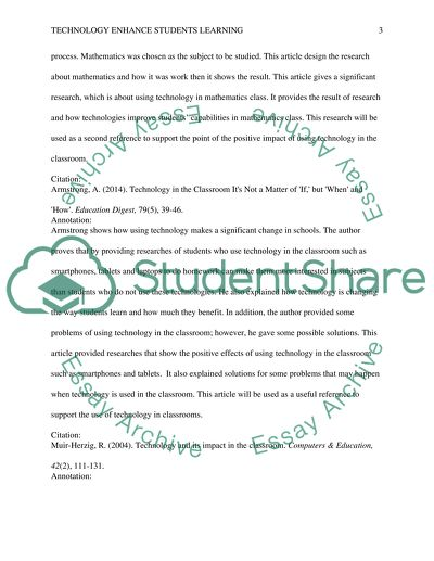 Technology Enhance students learning