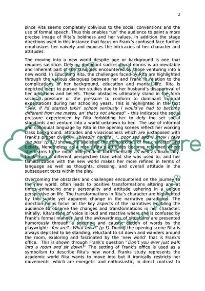 Cover letter critique form