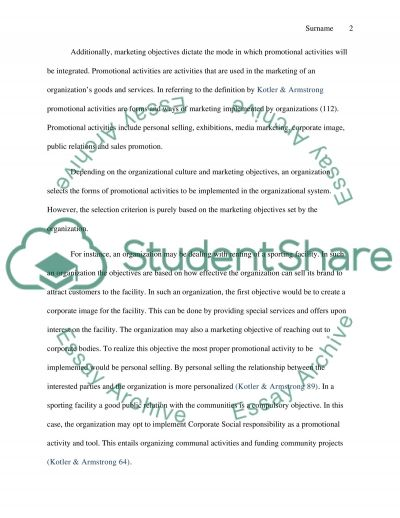 Marketing strategies Essay example