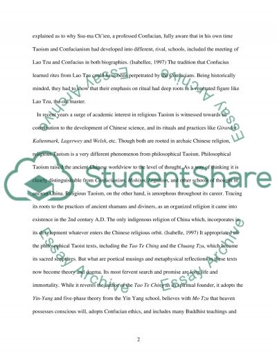 Taoism a way of being or a way of becoming essay example