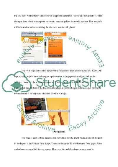 Website usability report