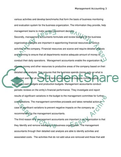 Stratgic Management Accounting (case study)