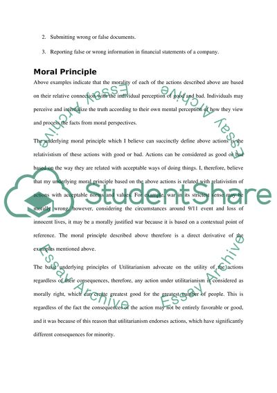 moral principle essay example | topics and well written essays