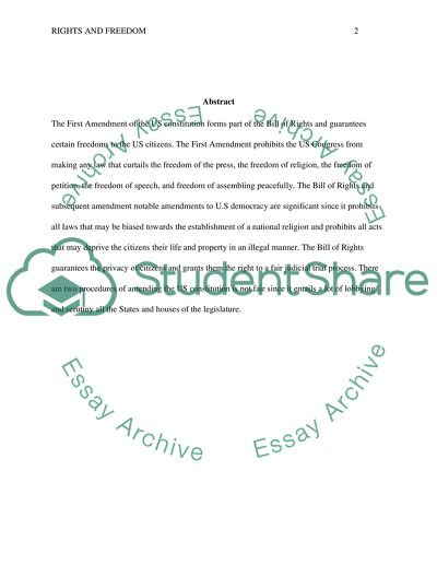bill of rights essay pdf