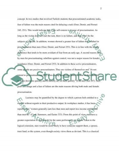 Laziness essay example