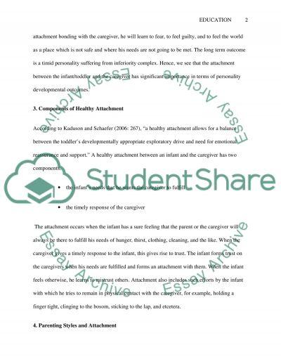 Emotional development essay example